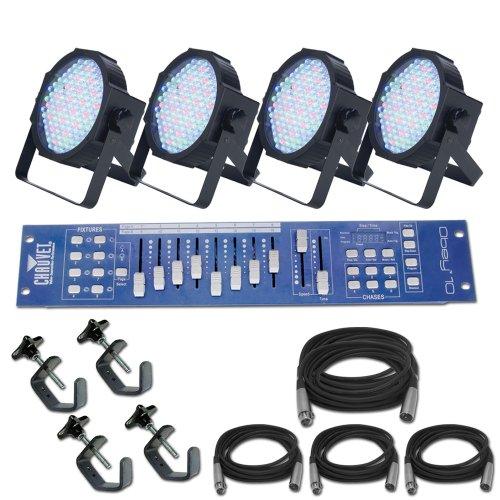 Mega Par Profile X 4 Led Light Pack