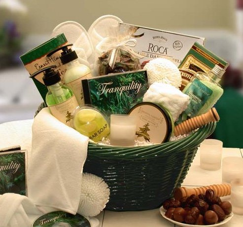 Eucalyptus Bath and Body Spa Basket for Her - Valentines Day Gift Idea for Women