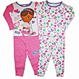 Disney Doc McStuffins Toddler Girls 4 Pc Cotton Sleepwear Set (3T)