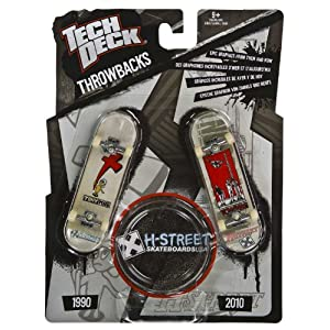 H-Street: Tech Deck Throwbacks 2-Finger Skateboards Pack