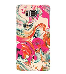 Colorful Abstract 3D Hard Polycarbonate Designer Back Case Cover for Samsung Galaxy Alpha G850