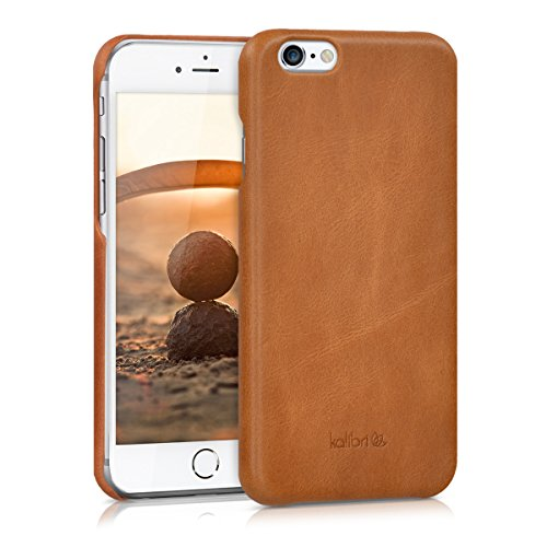 kalibri-Echtleder-Backcover-Hlle-fr-Apple-iPhone-6-6S-Leder-Case-Cover-Schutzhlle-in-Cognac
