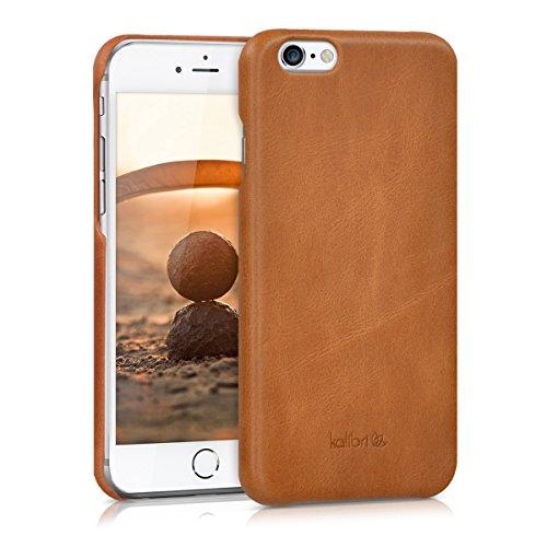 kalibri-Echtleder-Backcover-Hlle-fr-Apple-iPhone-6-6S-Leder-Case-Cover-Schutzhlle-in-Cognac