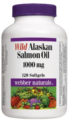 Webber Naturals Wild Alaskan Salmon Oil, 1000Mg, 120 Softgels