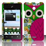Huawei Ascend Plus H881c Case Radiant Owl Design Hard Cover Protector (Straight Talk / Net10 / Tracfone) with...