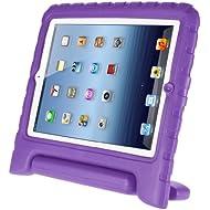 Afranker Ipad Mini / Mini 2 Shockproof Case Light Weight Kids Case Super Protection Cover Handle Stand Case for Kids Children for Apple Ipad Mini / Mini 2 Purple