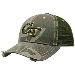 Buy Georgia Tech Yellow Jackets Camo Mesh Deliverance Hat by Pro Pocket Headgear