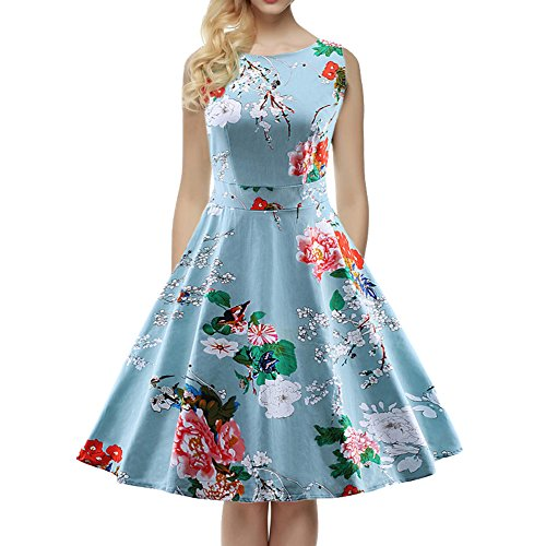 womens-1950s-60s-vintage-floral-style-rockabilly-cocktail-party-swing-dresses-blue