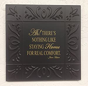 "Ah There Is Metal Embossed Ceiling Tile Sign (11""x11"")"