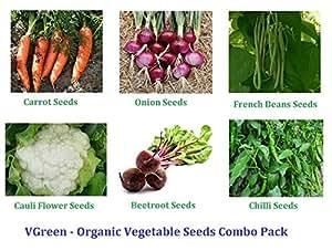 VGreen Garden Store VGreen Organic Vegetable Seeds Combo Pack
