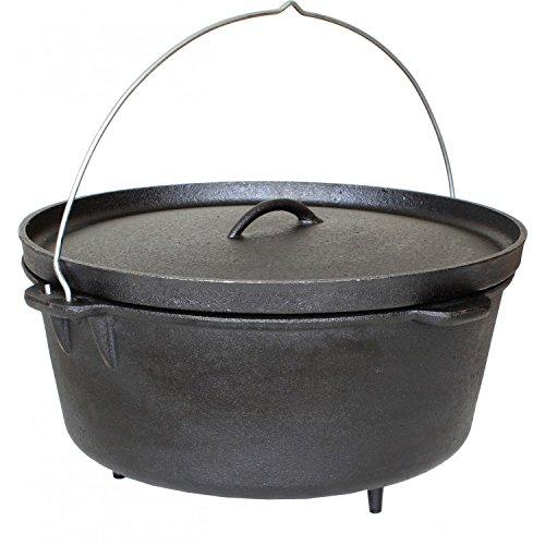 Cajun Cookware 16-quart Seasoned Cast Iron Camp Pot With Legs - Gl10465s (16 Qt Cast Iron Pot compare prices)