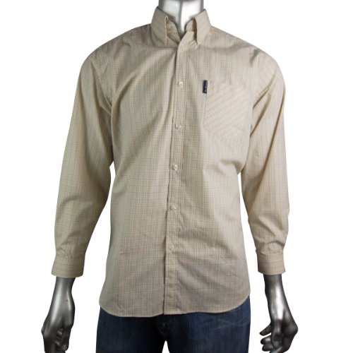 Boys Kids Ben Sherman Long Sleeve Shirt JNR Stripes Beige Work Trendy Age 11-12