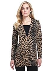 M&S Collection Pure Cashmere Animal Print Cardigan