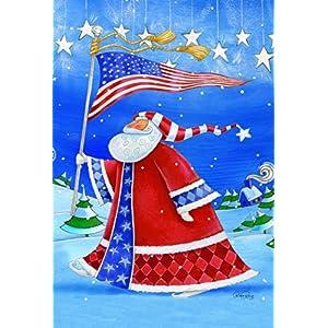 Toland Home Garden Patriotic Santa Garden Flag 119692 Ebay
