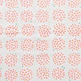 小さなポンポンフラワー ダブルガーゼ 生地 全5色 50cm単位販売 布 生地 国産 綿100% (オフホワイト)