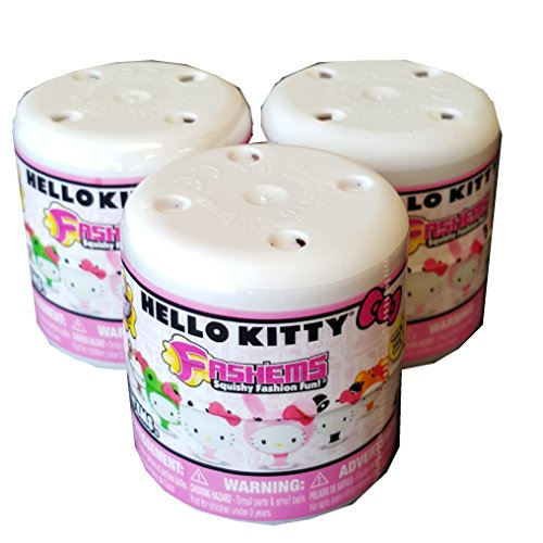 Hello-Kitty-FashEms-Series-2-Mystery-Capsule-Packs-Lot-of-3