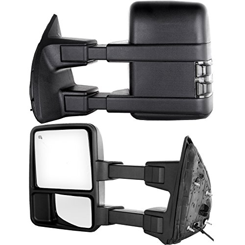 Buy Bargain Towing Tow Mirrors Power Heated Dual Glass for 99-02 Ford F250 F350 F450 F550 Super Duty...