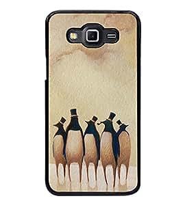 Fuson Premium 2D Back Case Cover Penguin pattern With Multi Background Degined For Samsung Galaxy E5::Samsung Galaxy E5 E500F