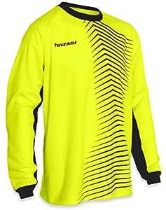 Vizari Novara Goalkeeper Jersey, Yellow/Black, Adult Large