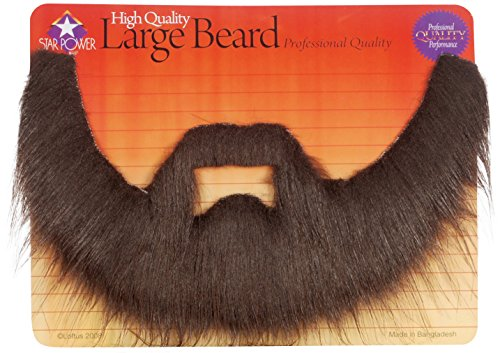 Professional Quality Long Shaggy Beard & Mustache Set Brown One Size
