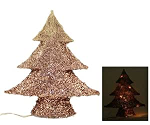 Wire Frame Christmas Tree With Lights 42cm - Graduated ...