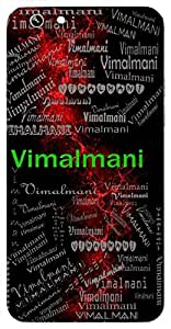Vimalmani (Pure Jewel (Crystal)) Name & Sign Printed All over customize & Personalized!! Protective back cover for your Smart Phone : Moto G-4-PLAY