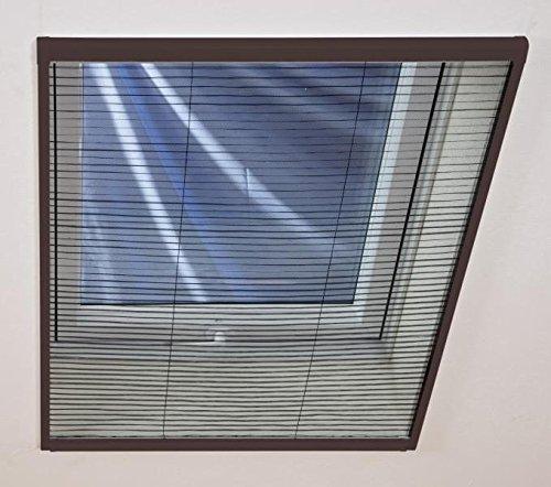 insektenschutz fliegengitter gaze plissee f r dachfenster 110 x 160 cm braun. Black Bedroom Furniture Sets. Home Design Ideas