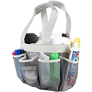shower caddy mesh great storage organizer for shower and bathroom accessories. Black Bedroom Furniture Sets. Home Design Ideas
