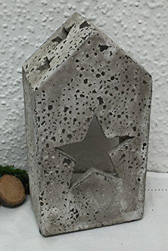 graues-deko-windlicht-kerzenhalter-haus-mit-stern-zement-fur-teelicht-23-cm