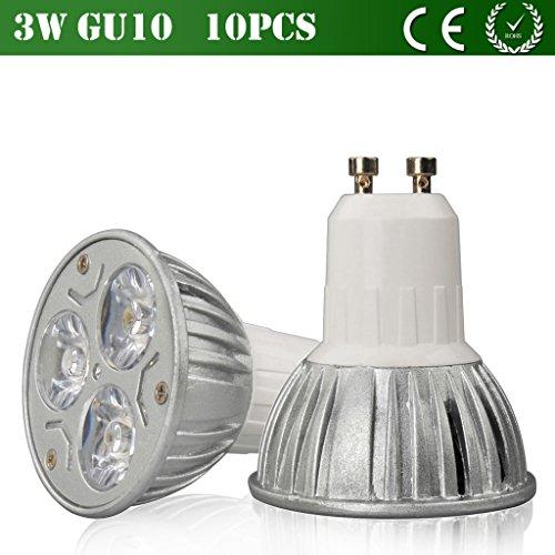 Vlunt 10Pcs Environmentally Friendly Led Lamp Cup 3W 6W 8W 9W Led Light Gu10 Mr16 Base Dimming