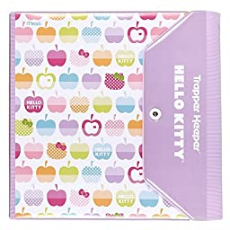 Hello Kitty Trapper Keeper 1.5 Inch Binder by Mead, 3 Ring Binder, Apple Design (73457)