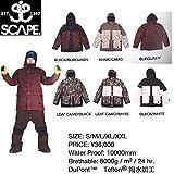 エスケープ SCAPE BACKLASH JACKET メンズスノージャケット スノーボードウェア 711-153-09 Black-Burgundy M