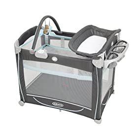 Graco Element Pack 'n Playard with Bassinet & Changer in Splash