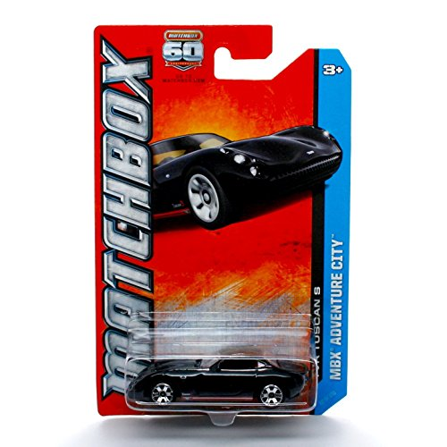 TVR TUSCAN S (Black) * MBX ADVENTURE CITY * 60th Anniversary Matchbox 2013 Basic Die-Cast Vehicle (#62 of 120)