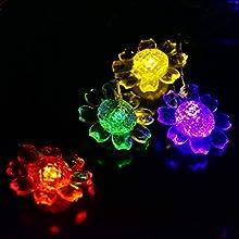 LEDniceker Solar Powered Lights String 8 Modes 48m 1575ft 20 Bright Sunflower Modeling LED Bulbs for