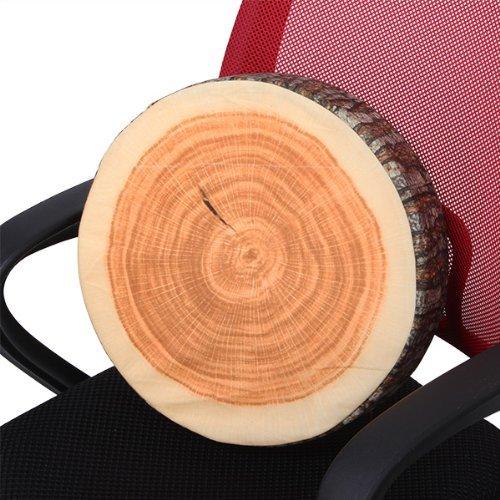 Log-Shaped Head Rest Pillow Decorative Wood Columns Novelty 36 X 17.8Cm front-144297