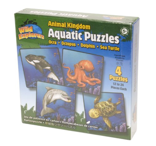 Animal Kingdom Aquatic Puzzles - Set of 4 - Wild Explorers