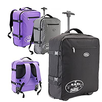 Barcelona+ 50x40x20cm Trolley and Backpack Carry-On Hand Luggage for Ryanair and Easyjet - 1.85kg
