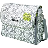Petunia Pickle Bottom Abundance Boxy Backpack, Breakfast in Berkshire/Grey (Discontinued by Manufacturer)