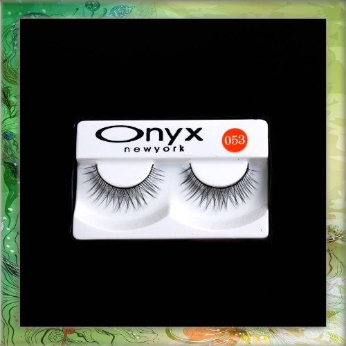 2 Pcs Long Black False Fake Eyelashes Eye Lashes Makeup #053 B0296
