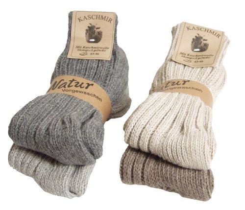 4-paires-des-femmes-ou-dhommes-BRUBAKER-chaussettes-en-laine-vierge-et-40-cachemire-taille-EU-35-50