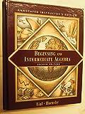 Beginning and Intermediate Algebra (0321041305) by Hornsby, E. John