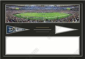 St. Louis Rams Edward Jones Dome Stadium & Your Choice Of Stadium Panoramic... by Art and More, Davenport, IA