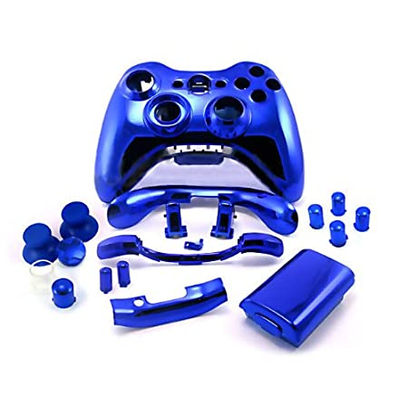 Xbox 360 Chrome Blue Replacement Controller Shell