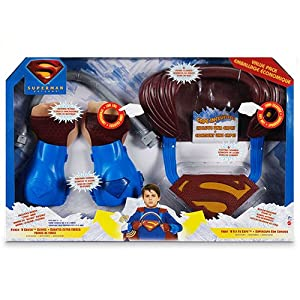 Superman Role Play Value Pack - Punch N' Crush Gloves - Fight N' Fly Cape - Bendy Bar