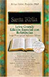 RVR 1960 Large Print Special Reference Bible ( Black Bonded Leather - Indexed )