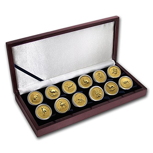 AU-1996-2007-Australia-12-Coin-1-oz-Gold-Lunar-Set-BU-Series-I-Brilliant-Uncirculated
