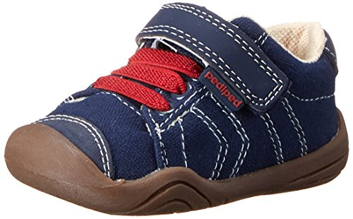 pediped Jake Grip-N-Go Sneaker (Toddler/Big Kid),Navy/Red,20 EU (5 M US Toddler)
