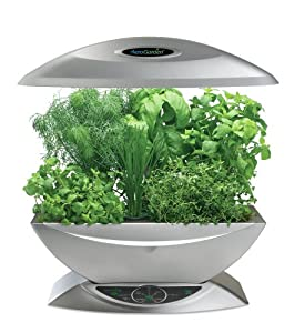 AeroGarden 900330-1200 6 with Gourmet Herb Seed Kit, Silver (Discontinued by Manufacturer)