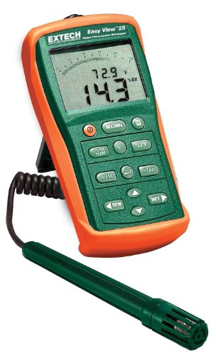Extech EA25-NIST Easyview Hygro-Therm/Datalogger with Nist - 1